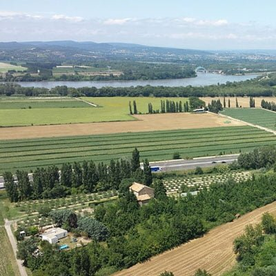 Rhône Weinregion Frankreich