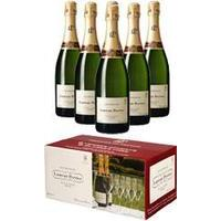 Laurent Perrier - Brut L-P Limited Edition Case With Glasses 6x 75cl Bottles