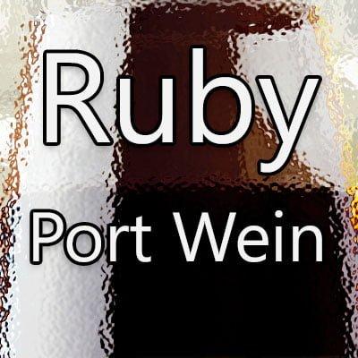Ruby Port Wein