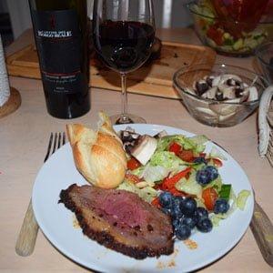 Wein mit Essen zu Paaren