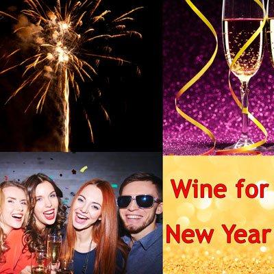 Wein für Neues Jahr